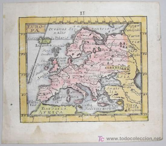 Arte: Mapa de Europa de Mueller, 1692 - Foto 2 - 18576912