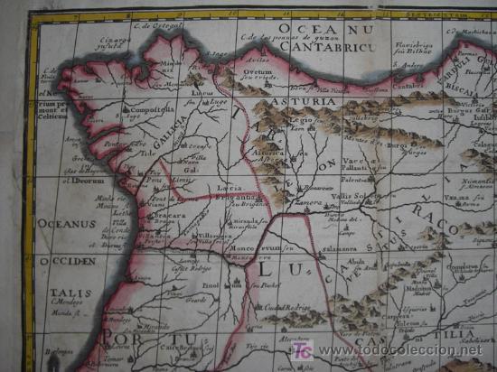 Arte: Mapa de España y Portugal de Bruzen, 1739 - Foto 4 - 12378567