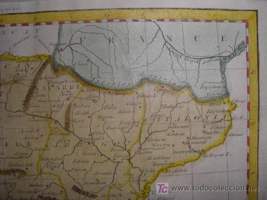 Arte: Mapa de España y Portugal de Guthrie, 1795 - Foto 5 - 12344243