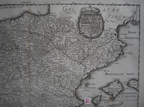 Arte: Mapa de España y Portugal de Merian, 1717 - Foto 5 - 12415212