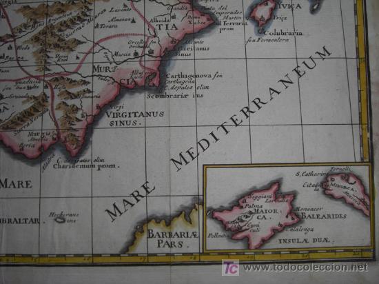 Arte: Mapa de España y Portugal de Bruzen, 1739 - Foto 7 - 12378567