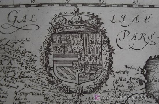 Arte: Mapa de España y Portugal de Merian, 1717 - Foto 8 - 12415212