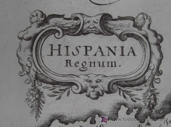 Arte: Mapa de España y Portugal de Merian, 1717 - Foto 9 - 12415212