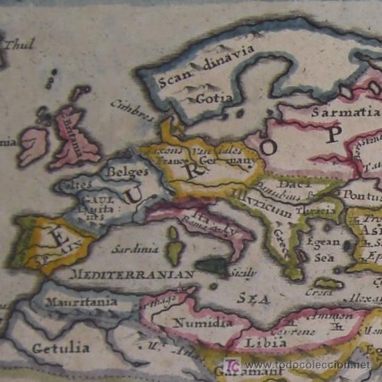 MAPA DEL MUNDO ANTIGUO DE MOLL, 1753 (Arte - Cartografía Antigua (hasta S. XIX))