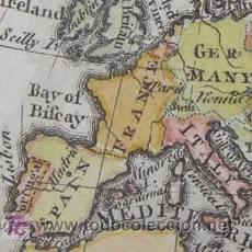 Arte: MAPA DE EUROPA DE GIBSON, 1759. Lote 18576012