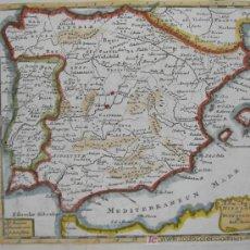 Arte: MAPA DE HISPANIA Y PORTUGALLIA DE MORDEN, 1700. Lote 18577126