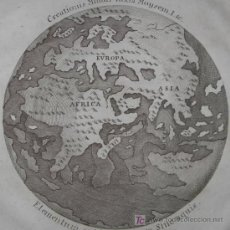 Arte: MAPA DEL MUNDO TITULADO SYSTEMA CREATIONIS MUNDI IUXTA MOYSEM. AUTOR ANÓNIMO,1789. Lote 18577151