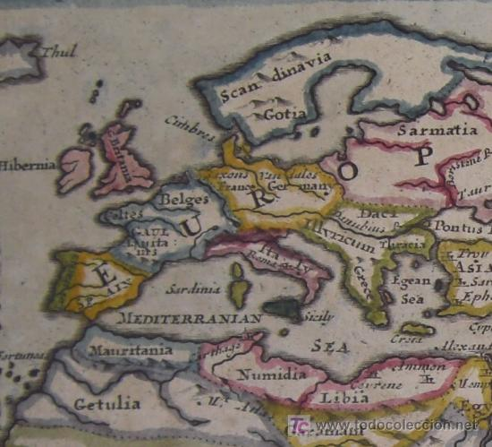 Arte: Mapa del Mundo Antiguo de Moll, 1753 - Foto 4 - 18575864