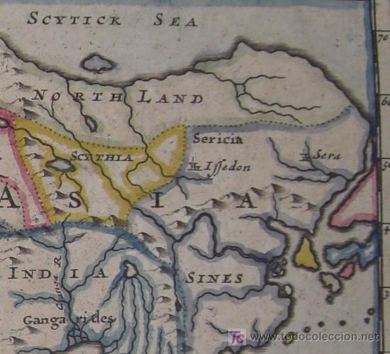 Arte: Mapa del Mundo Antiguo de Moll, 1753 - Foto 6 - 18575864