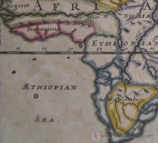 Arte: Mapa del Mundo Antiguo de Moll, 1753 - Foto 7 - 18575864