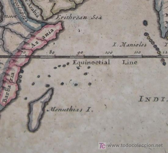 Arte: Mapa del Mundo Antiguo de Moll, 1753 - Foto 8 - 18575864