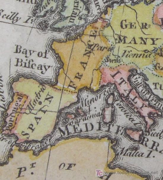 Arte: Mapa de Europa de Gibson, 1759 - Foto 7 - 18576012