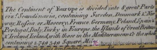 Arte: Mapa de Europa de Gibson, 1759 - Foto 9 - 18576012