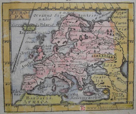 Arte: Mapa de Europa de Mueller, 1692 - Foto 3 - 18576912