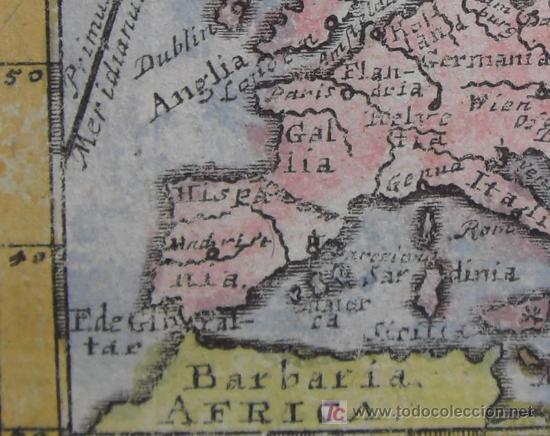 Arte: Mapa de Europa de Mueller, 1692 - Foto 6 - 18576912