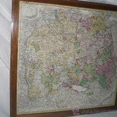 Arte: J3-024. INTERESANTÍSIMO MAPA ZONA BADEN-WUTEMBERT HERTZOGTHU. 1743. ORIGINAL.. Lote 19297231