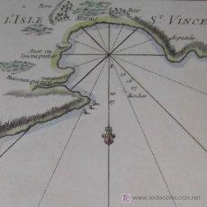 Arte: MAPA DEL PUERTO DE MINDELO EN CABO VERDE DE BELLIN, 1750. Lote 19309538