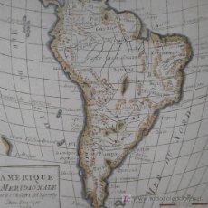 Arte: MAPA DE SUDAMÉRICA DE VAUGONDY, 1782 . Lote 19309608