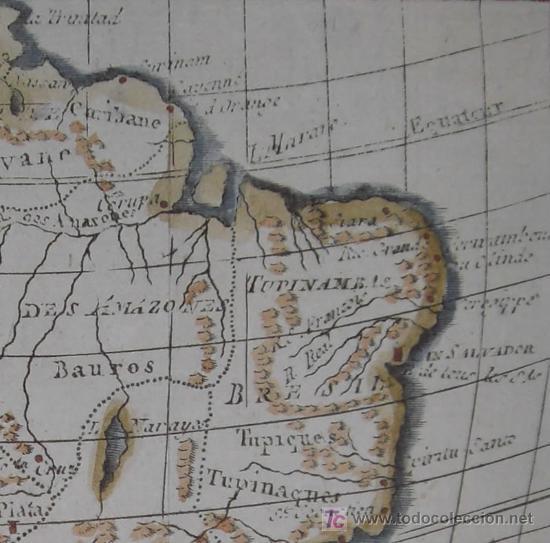 Arte: Mapa de Sudamérica de Vaugondy, 1782 - Foto 5 - 19309608