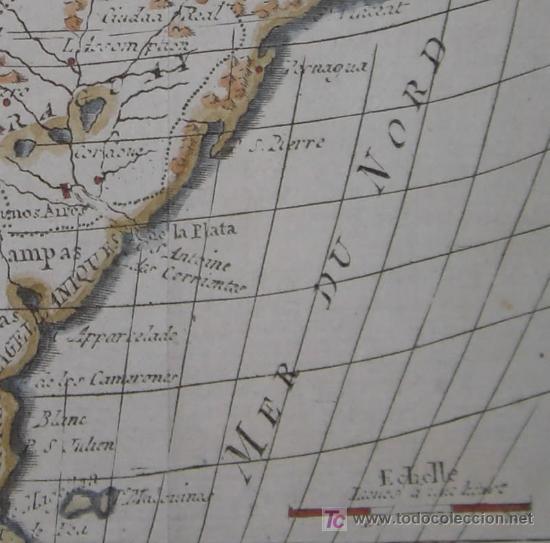 Arte: Mapa de Sudamérica de Vaugondy, 1782 - Foto 7 - 19309608
