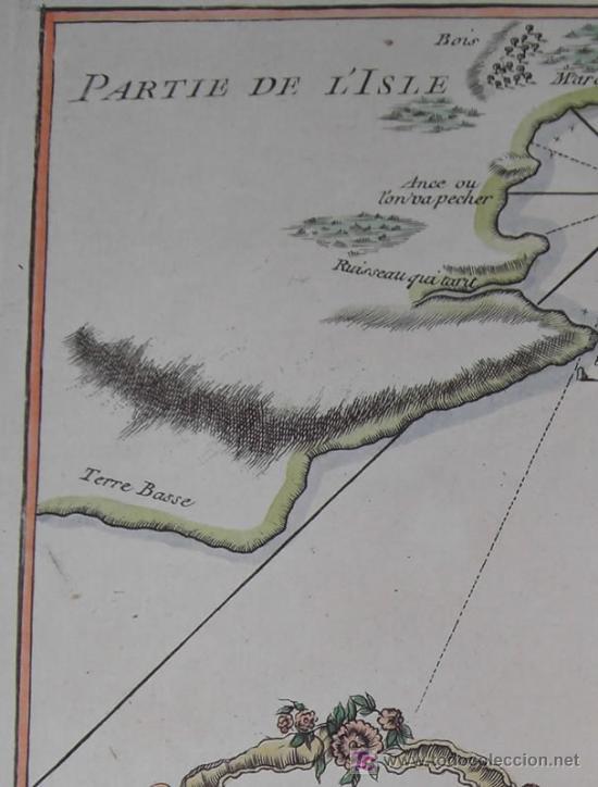 Arte: Mapa del Puerto de Mindelo en Cabo Verde de Bellin, 1750 - Foto 4 - 19309538