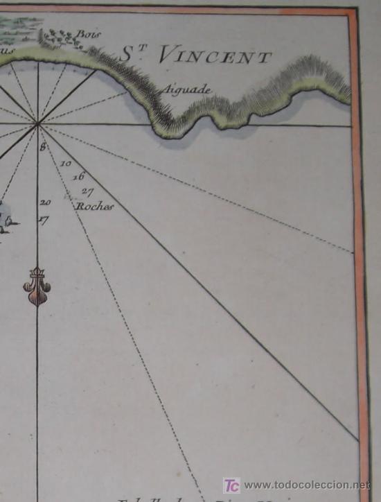 Arte: Mapa del Puerto de Mindelo en Cabo Verde de Bellin, 1750 - Foto 5 - 19309538