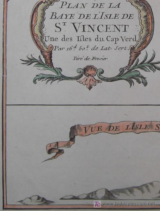 Arte: Mapa del Puerto de Mindelo en Cabo Verde de Bellin, 1750 - Foto 6 - 19309538
