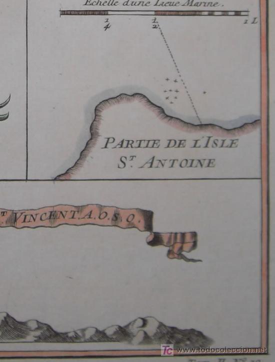 Arte: Mapa del Puerto de Mindelo en Cabo Verde de Bellin, 1750 - Foto 7 - 19309538