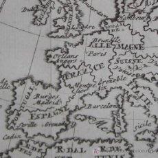Arte: MAPA DE EUROPA DE LIMIERS, 1723. Lote 19402588