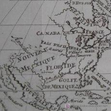 Arte: MAPA DE NORTEAMÉRICA DE LIMIERS, 1723. Lote 19402633