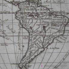 Arte: MAPA DE SUDAMÉRICA DE DELISLE, 1752. Lote 19404030