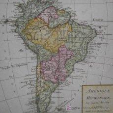 Art: MAPA DE SUDAMERICA DE LAMARCHE, 1795. Lote 19405925