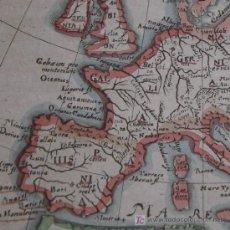 Arte: MAPA DE EUROPA CON LA MÍTICA ISLA DE FRISLANDIA DE CLUVER, 1652. Lote 20489718