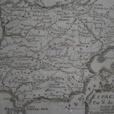 Arte: MAPA DE ESPAÑA DE NICOLAS DE FER, 1746. Lote 20489873