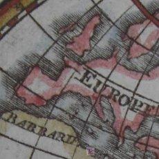Arte: MAPA DEL MUNDO DE PLUCHE, 1760. Lote 20491597
