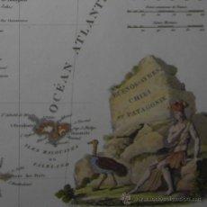 Arte: MAPA DE LA PATAGONIA DE MALTE-BRUN, 1812. Lote 21403893