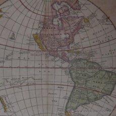 Arte: MAPA DE AMÉRICA DE CLUVER, 1661. Lote 21461052