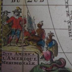Arte: MAPA DE AMÉRICA DEL SUR DE RATELBAND, 1735. Lote 21461082