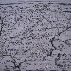 Arte: MAPA DE ESPAÑA, DU VAL , ORIGINAL,1670, RARÍSIMA EDICIÓN, , UNA JOYA. Lote 26875097