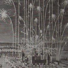 Arte: GRABADO DE MERIAN DE LOS FUEGOS ARTIFICIALES DE NUREMBERG, 1652. Lote 21588600