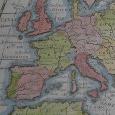 Arte: MAPA DE EUROPA DE BUFFIER, 1762. Lote 23008167