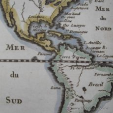 Arte: MAPA DE LAS COLONIAS AMERICANAS DE PLUCHE, 1760. Lote 23031235