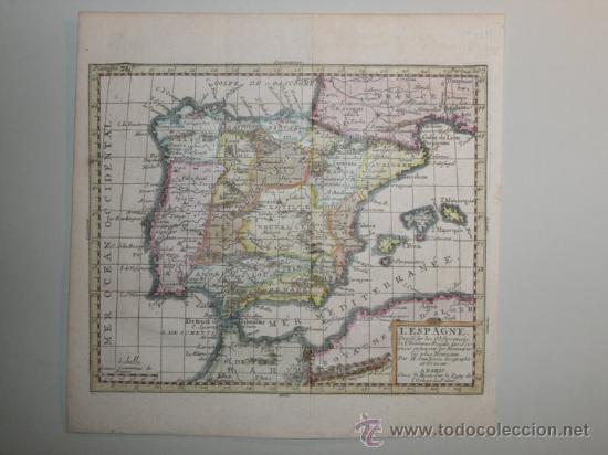 Arte: Mapa de España y Portugal de Van Loon, 1724 - Foto 2 - 23305463