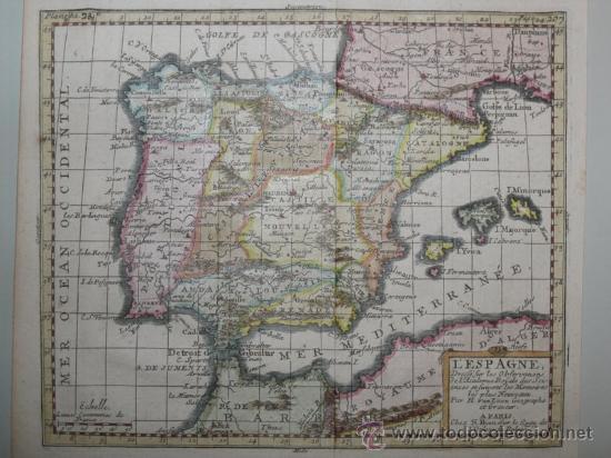 Arte: Mapa de España y Portugal de Van Loon, 1724 - Foto 3 - 23305463