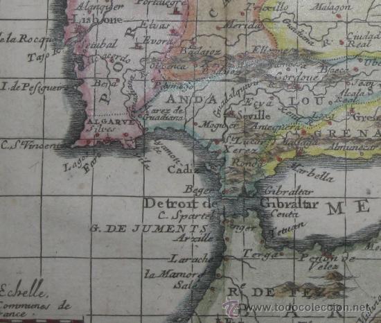 Arte: Mapa de España y Portugal de Van Loon, 1724 - Foto 6 - 23305463