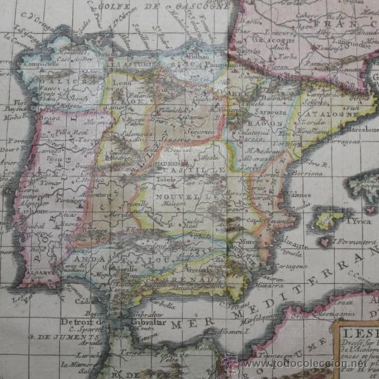 MAPA DE ESPAÑA Y PORTUGAL DE VAN LOON, 1724 (Arte - Cartografía Antigua (hasta S. XIX))