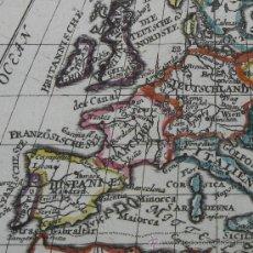 Arte: MAPA DE EUROPA DE GABRIEL BODENEHR, 1715. Lote 23441379