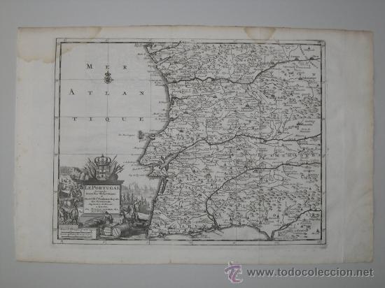 Arte: Mapa de Portugal de Pieter Van der Aa, 1729 - Foto 2 - 24398348