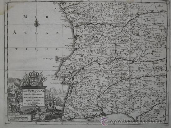 Arte: Mapa de Portugal de Pieter Van der Aa, 1729 - Foto 3 - 24398348