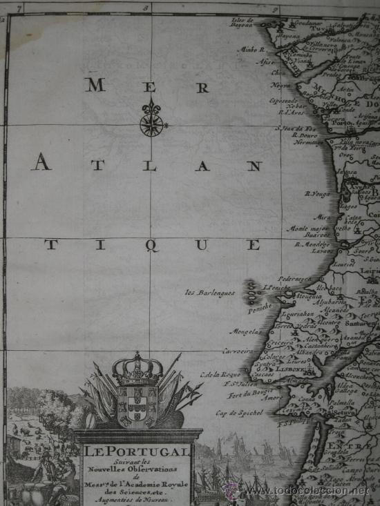 Arte: Mapa de Portugal de Pieter Van der Aa, 1729 - Foto 4 - 24398348